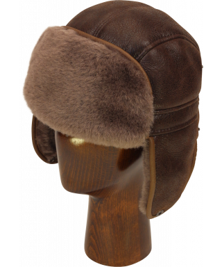 Sheepskin Mid Aviator (Medium Brown)
