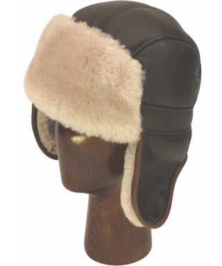 Sheepskin Mid Aviator (Brown / White)