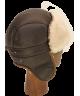 Sheepskin Mid Aviator (Brown / White)