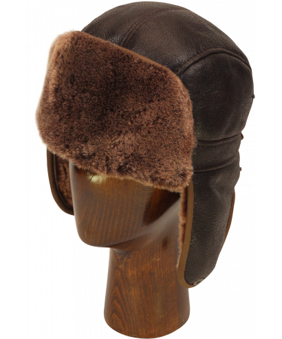 Sheepskin Mid Aviator (Dark Brown)