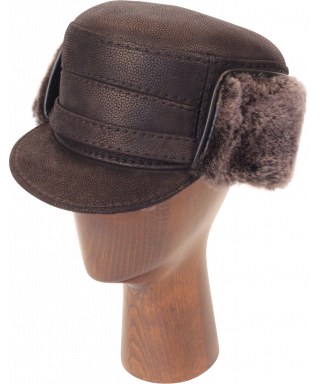 Elmer Fudd Sheepskin Flat Top (Black)
