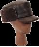 Elmer Fudd Sheepskin Flat Top (Dark Brown)