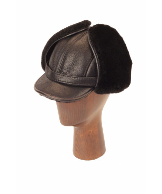 Elmer Fudd Sheepskin Round Top Long (Black)