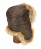 Trapper in Leather and Raccoon (Brown)
