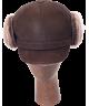 Elmer Fudd Sheepskin Round Top Short (Dark Brown)