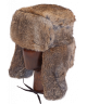 Full Fur Rabbit Ushanka (Brown)