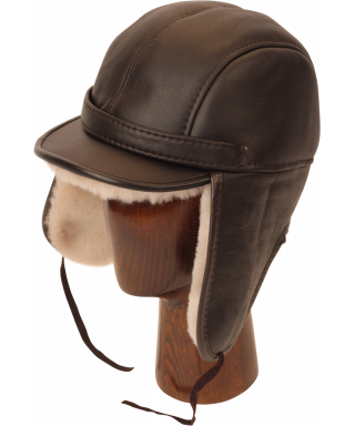 Elmer Fudd Sheepskin Round Top Long (Brown / White)