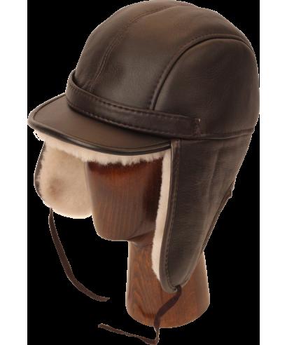 Elmer Fudd Sheepskin Round Top Long (Brown / White)