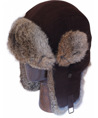 Lamb Suede with Rabbit Fur (Brown)