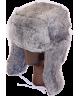 Full Fur Rabbit Ushanka (Gray)