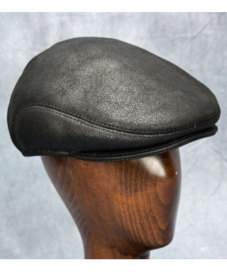 Sheepskin Ivy Cap (Black)