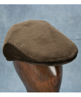 Corduroy Ivy Cap (Dark Brown)