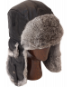 Leather Rabbit Fur Aviator (Black)