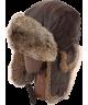 Leather Rabbit Fur Aviator (Brown)