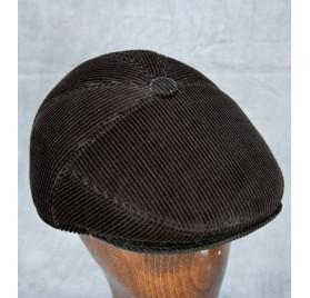 Corduroy Ivy Cap - 5 Panel (Black)