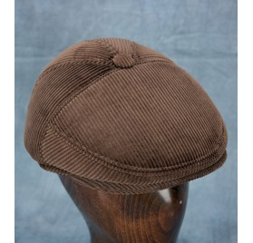 Corduroy Ivy Cap - 5 Panel (Dark Brown)